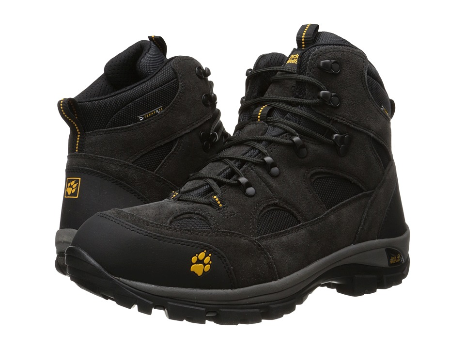 Jack Wolfskin All Terrain Texapore Nearly Black Mens Hiking Boots
