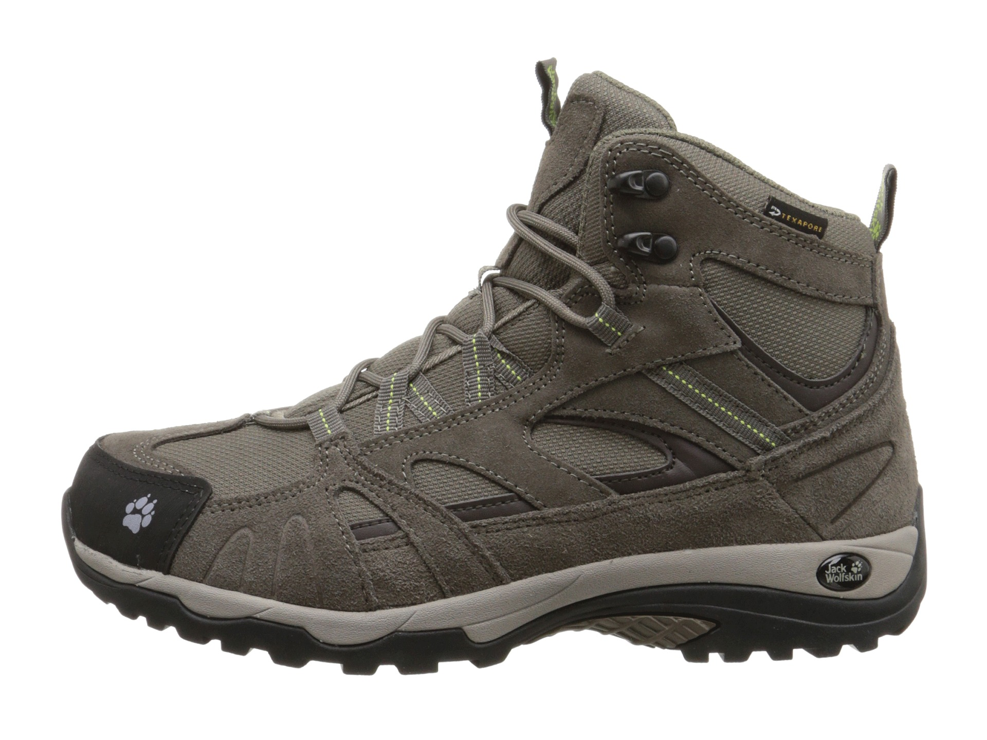 Jack Wolfskin Vojo Hike Mid Texapore Parrot Green Zappos