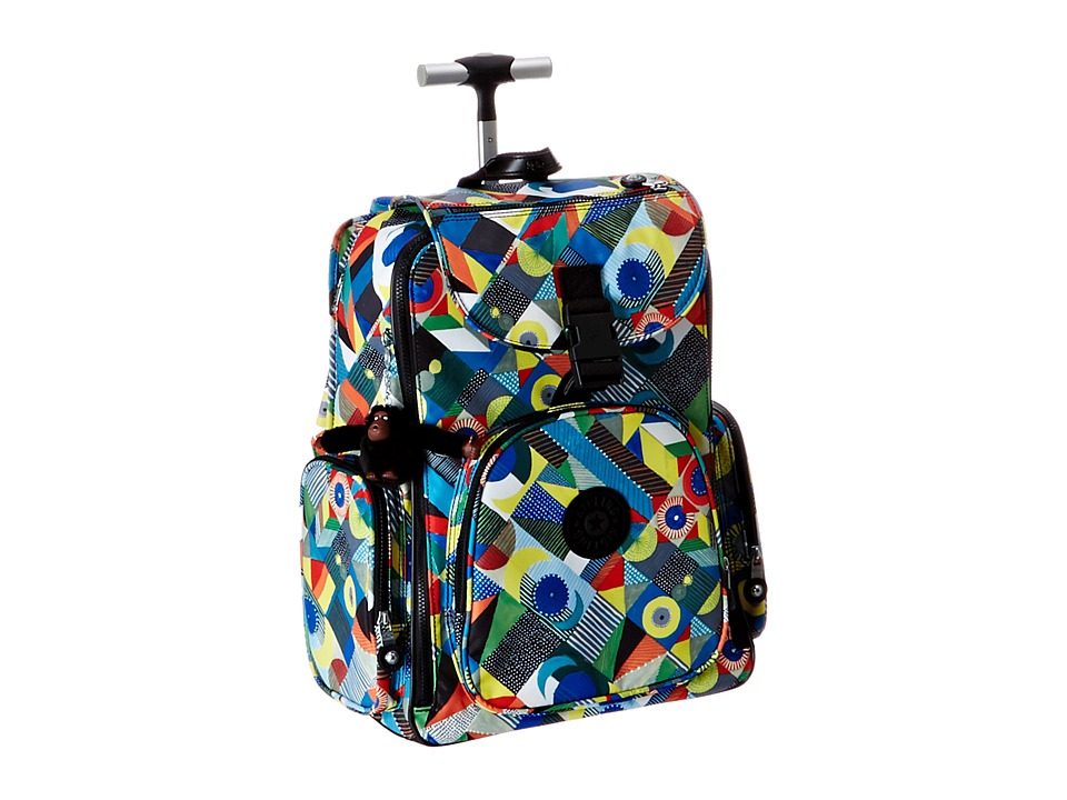 Kipling Alcatraz II Printed Backpack With Laptop Protection Abstract Beauty Backpack Bags