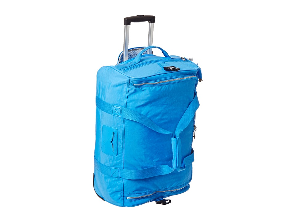 Kipling Discover Small Wheeled Luggage Duffel Blue Jay Duffel Bags