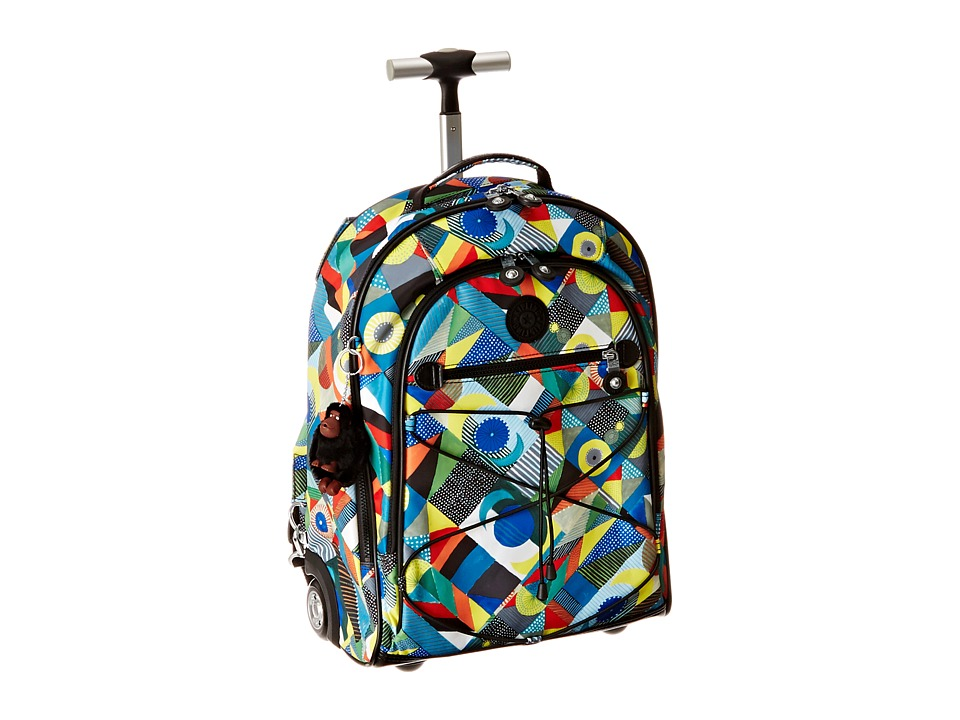 Kipling Sausalito Printed Rolling Backpack Abstract Beauty Backpack Bags