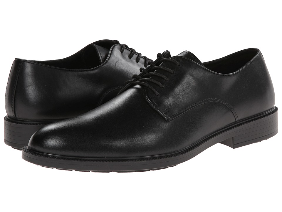 Hush Puppies Ivan Banker Black WP Leather Mens Plain Toe Shoes