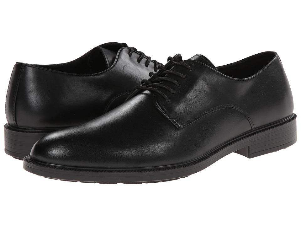 Hush Puppies Ivan Banker Black WP Leather Mens Plain Toe Shoes