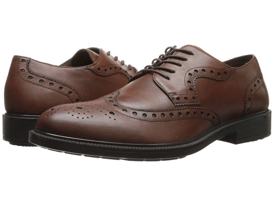Hush Puppies Issac Banker Dark Brown WP Leather Mens Lace Up Wing Tip Shoes