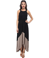 Michael Stars - Sleeveless Crew Neck High-Low Maxi Dress