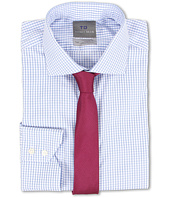Thomas Dean & Co. - Non-Iron L/S Woven Dress Shirt w/ Spread Collar Sateen Check