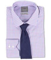 Thomas Dean & Co. - Non-Iron L/S Woven Dress Shirt w/ Point Collar Gingham Check