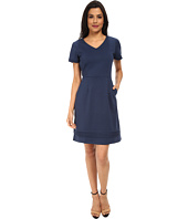 Yumi - Ponte Dress w/ Pin Tuck Detailing