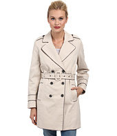 Yumi - Yumi Classic Trench w/ Contrast Piping and Bird Lining Detail