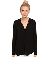 Splendid - Rayon and Rib Long Sleeve Shirt