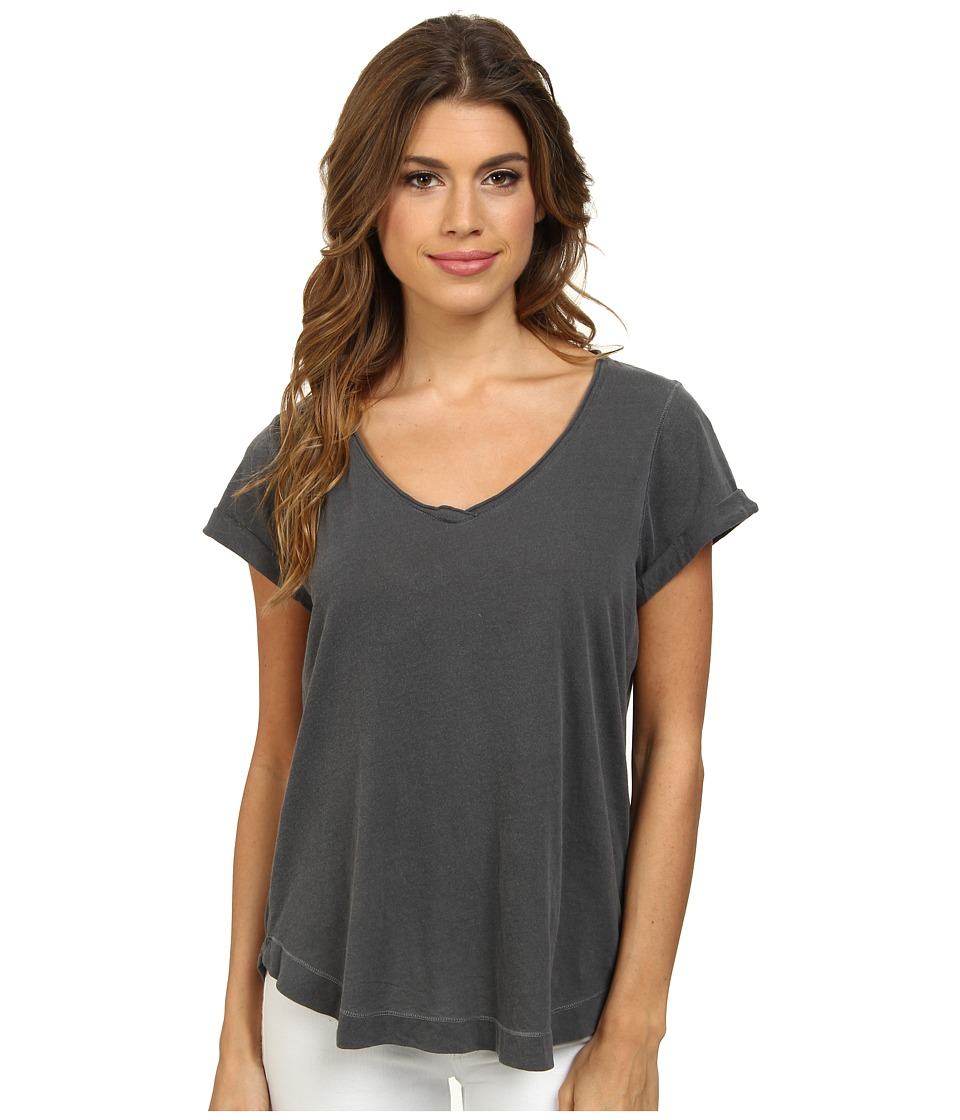 Splendid Vintage Whisper V-Neck Tee (Lead) Women