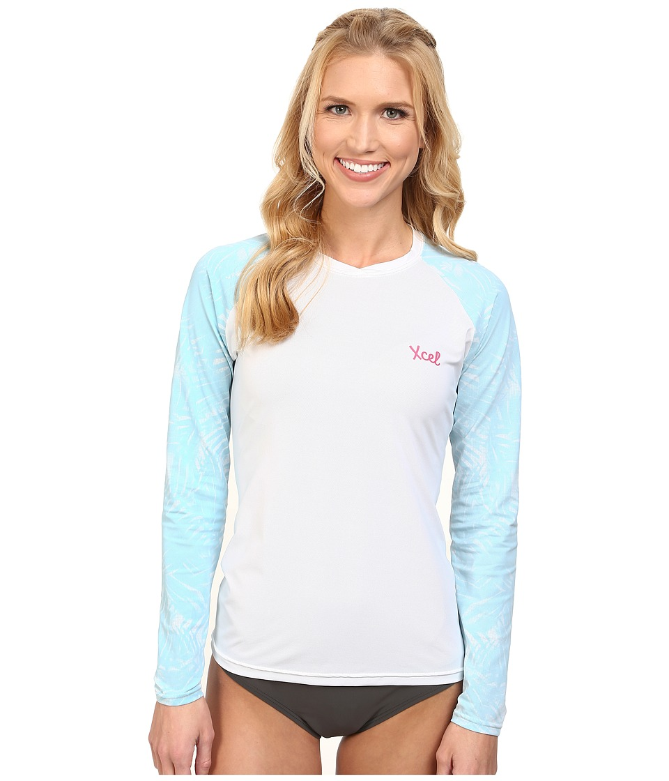 XCEL Wetsuits Greta 4 Way Series L/S UV White Womens Swimwear