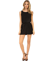 Brigitte Bailey - Solid Romper with Tie Belt