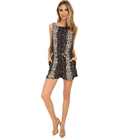 Brigitte Bailey - Printed Romper with Tie Belt