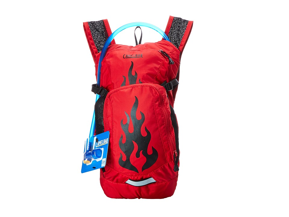 CamelBak Mini M.U.L.E. 50 o.z Youth Barbados Cherry Flames Backpack Bags
