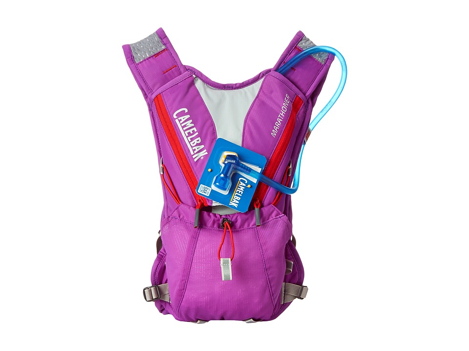 CamelBak - Marathoner 70 oz (Purple Cactus Flower/Flame Scarlet) Backpack Bags