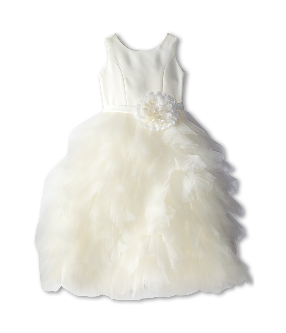 Us Angels - Satin and Tulle Dress w/ Flower