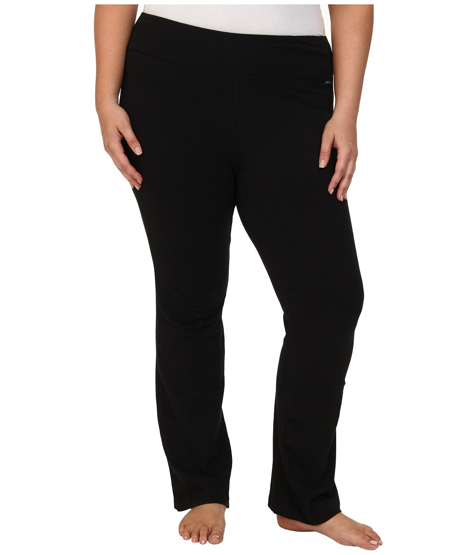 Jockey Active Plus Size Slim Bootleg Black Womens Casual Pants