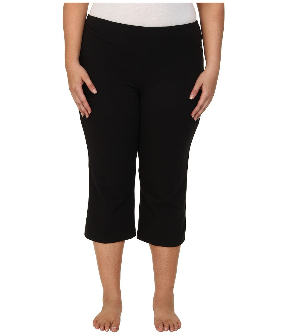 Jockey Active Plus Size Slim Capri Flare (Black) Women