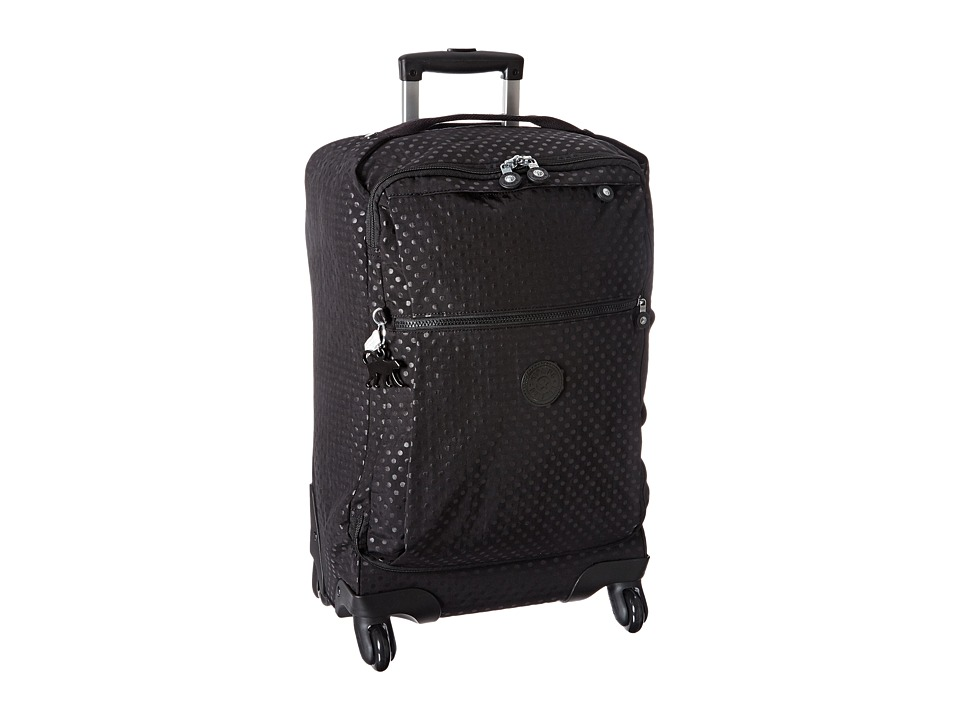 Kipling - Darcey Small Wheeled Luggage (Black Dot Embossed) Duffel Bags