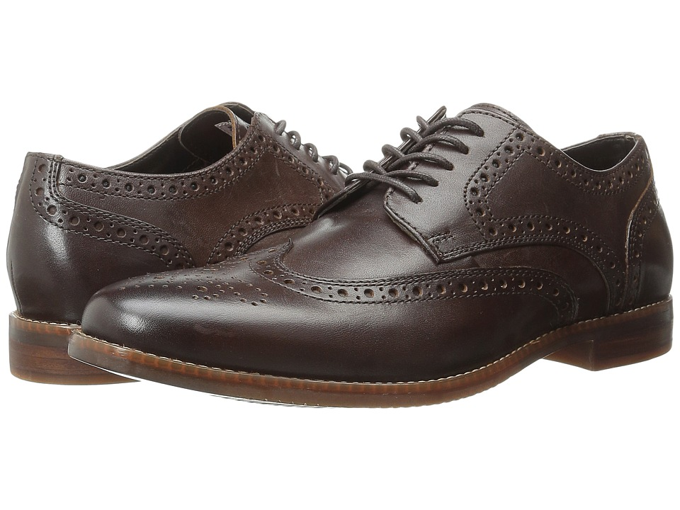 Rockport - Style Purpose Wingtip (Dark Brown) Mens Lace Up Wing Tip Shoes