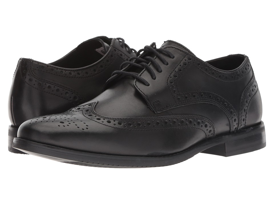 Rockport - Style Purpose Wingtip (Black) Men's Lace Up Wing Tip Shoes