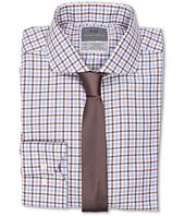 Thomas Dean & Co. - Twill Multi Check Non-Iron L/S Woven Dress Shirt