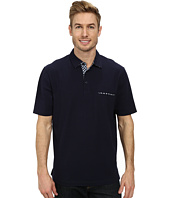 Thomas Dean & Co. - S/S Cotton/Spandex Pique Knit Polo