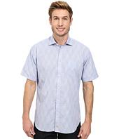 Thomas Dean & Co. - Mini Check w/ Pattern S/S Woven Shirt