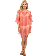 Echo Design - Seaside Stripe Flutter Caftan Cover-Up