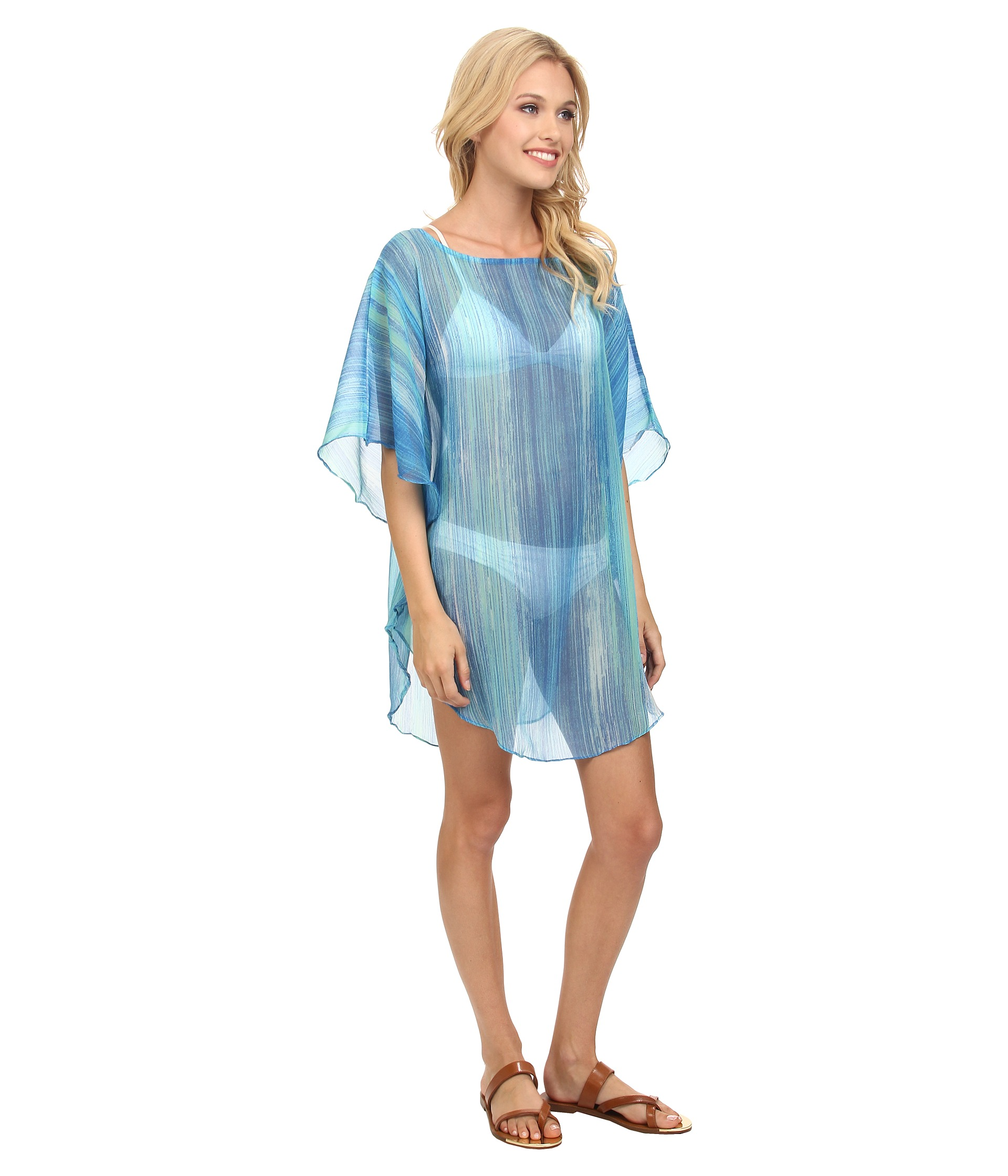 Swim 365 Women's Plus Size Cover-Up For Swimsuit, Hooded In Terrycloth