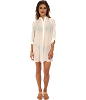 Echo Design - Solid Silky Shirt Dress Cover-Up