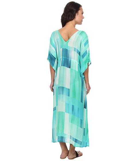 Echo design waterfall blocks silk dress cover up jade for Waterfall design dress