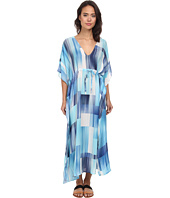 Echo Design - Waterfall Blocks Silk Dress Cover-Up