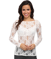 Free People - Lace L/S Crisscross Layering Cami