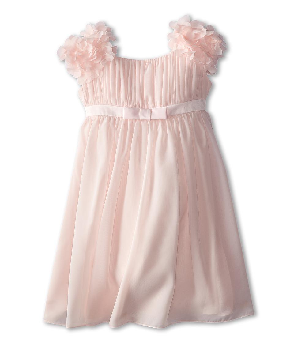 Us Angels Chiffon Ruffle Sleeve Dress Little Kids Blush Pink Girls Dress