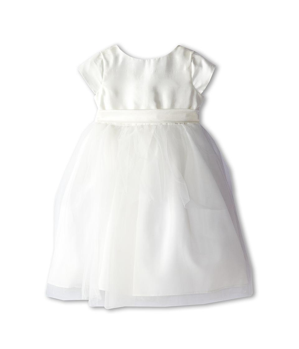 Us Angels Cap Sleeve Silk and Tulle Dress Toddler Diamond White Girls Dress
