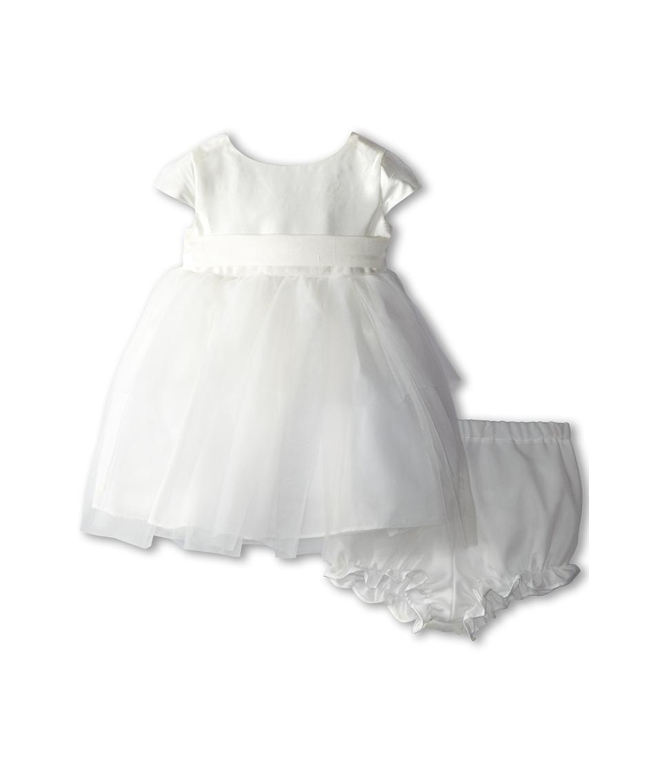 Us Angels Cap Sleeve Silk and Tulle Dress Infant Diamond White Girls Dress