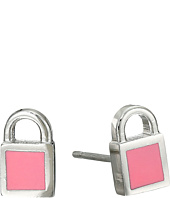 Marc by Marc Jacobs - Lock-In Mini Enamel Padlock Studs Earrings