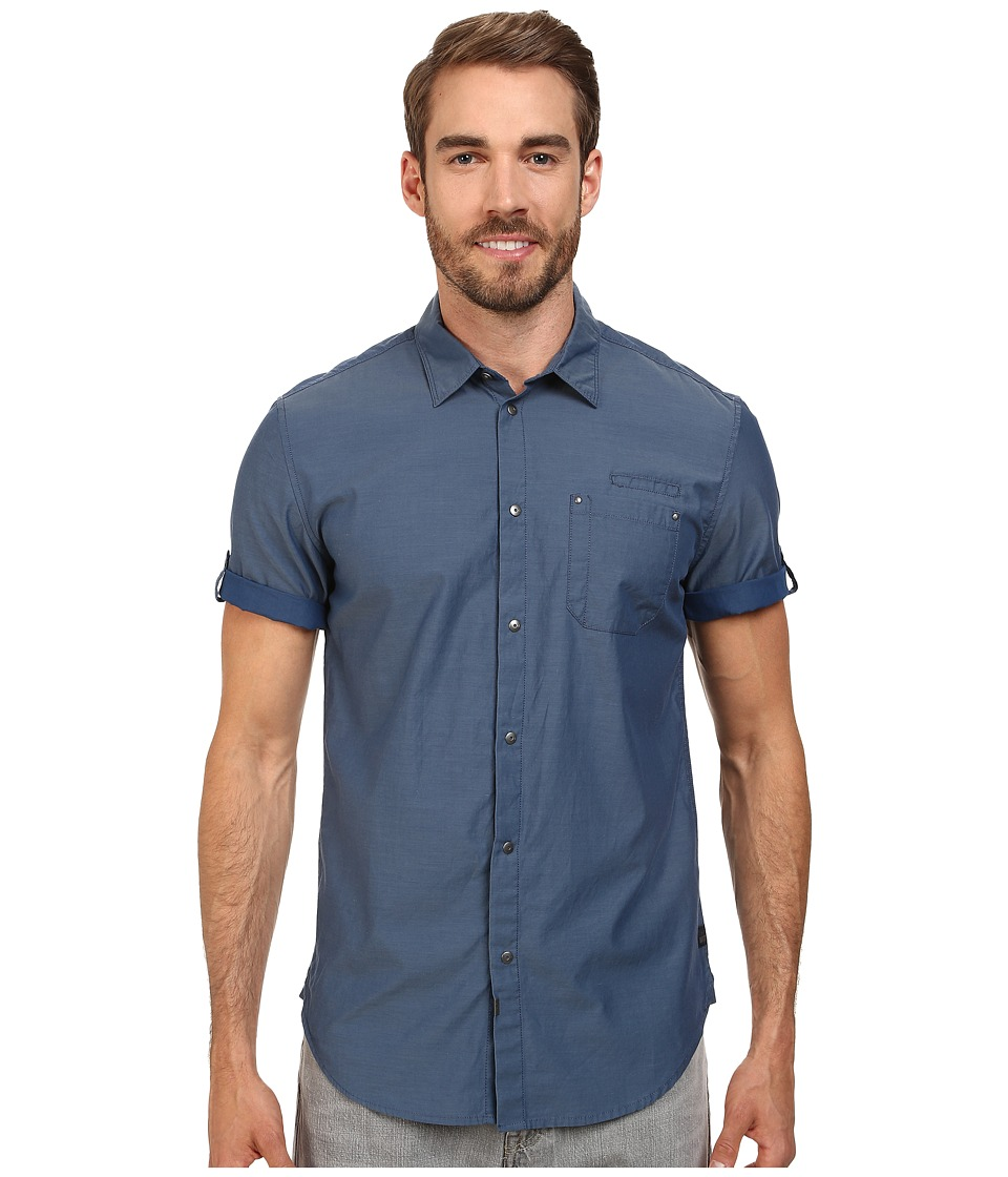Calvin Klein Jeans Chambray Utility Shirt Hydro Mens Clothing