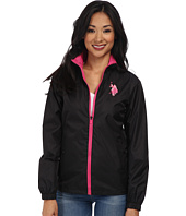 U.S. POLO ASSN. - Mock Neck Hooded Windbreaker Jacket
