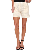 KAS New York - Sibelle Embroidered High Waist Shorts