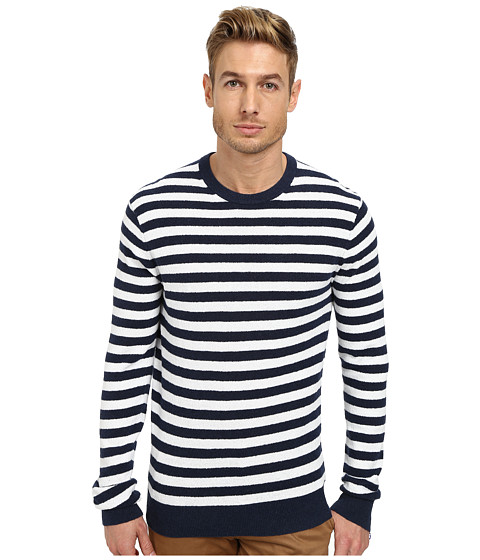 Michael Kors Terry Striped Crew Sweater