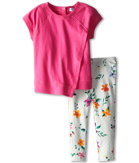 Splendid Littles Directional Print Solid Top Print Pant