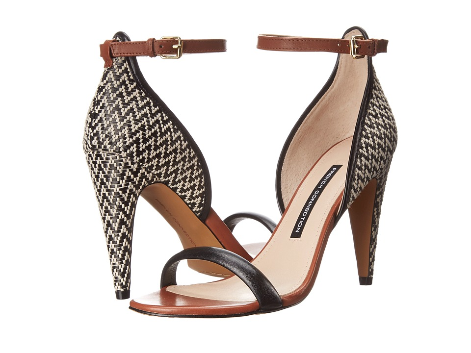 Shop French Connection online and buy French Connection Nanette Black-Black-White-Tan High Heels online