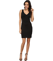 Nicole Miller - Stretch Neoprene V-Neck Dress