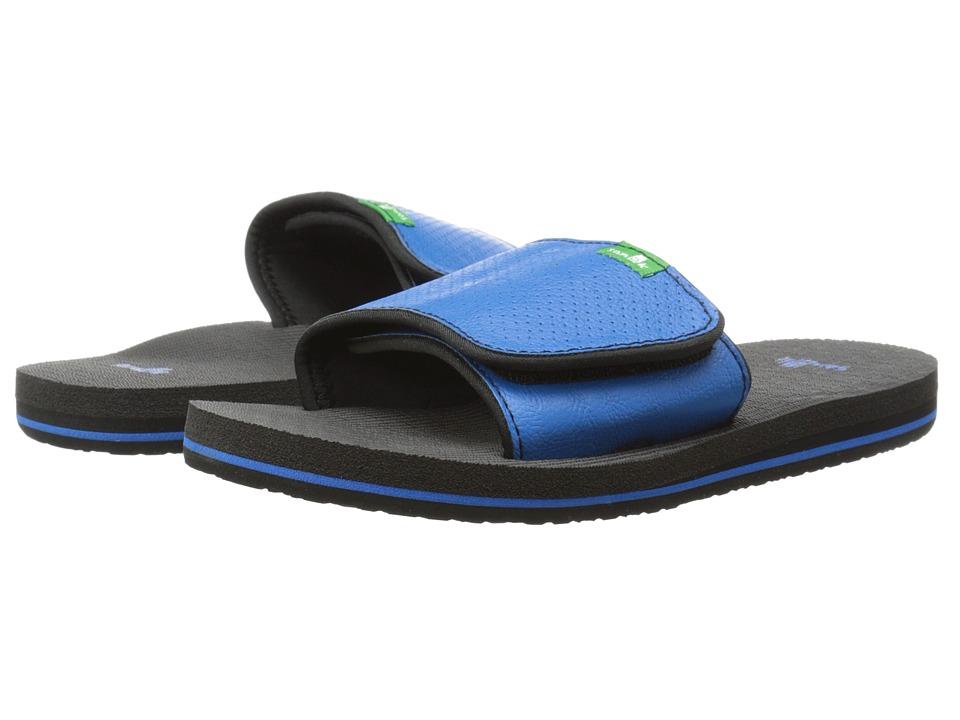 Sanuk Kids - Root Beer Cozy Light Slide (Little Kid/Big Kid) (Blue) Boys Shoes