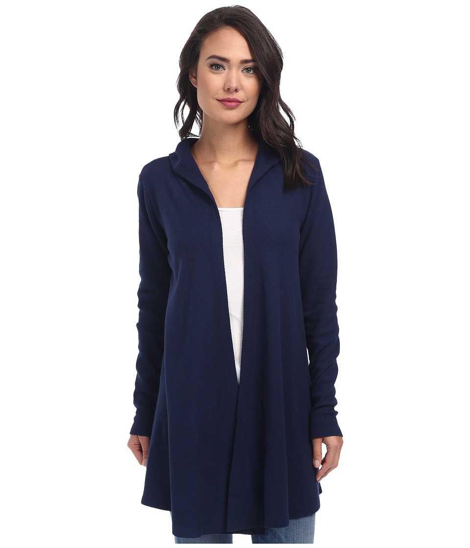 Allen Allen Hooded Open Cardigan (Lapis) Women's Sweater