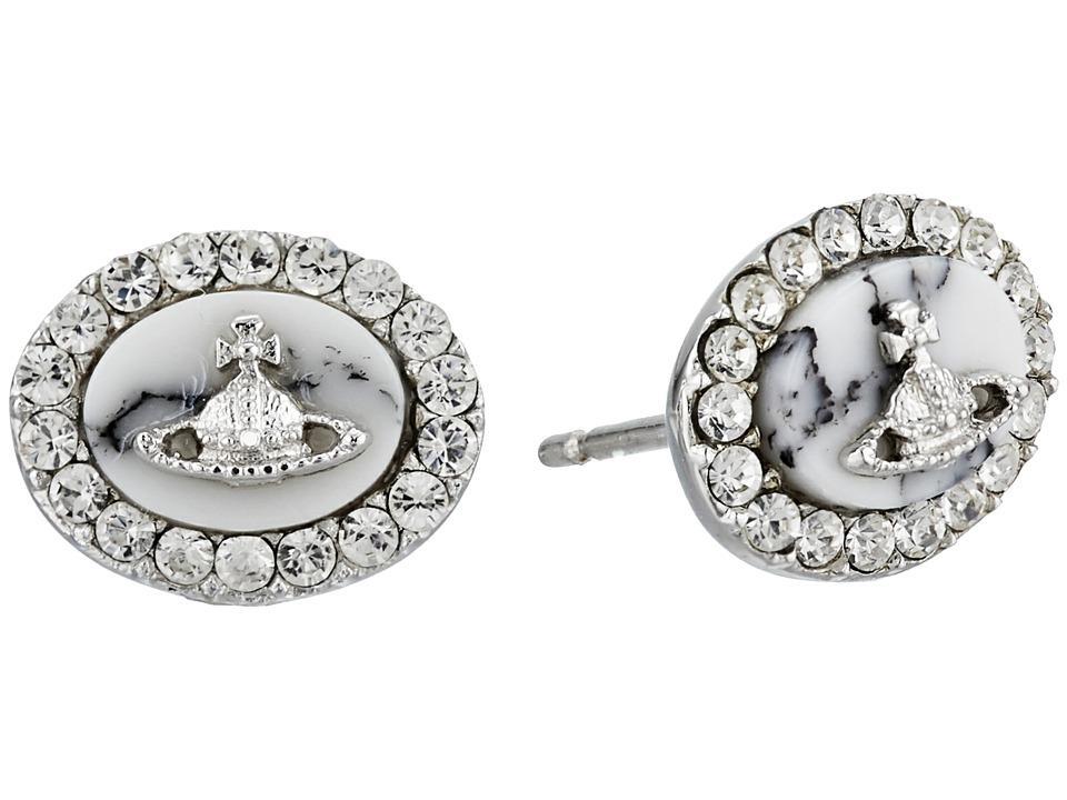 Vivienne Westwood - Giselle Earrings (Rhodium) Earring