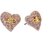 Vivienne Westwood Tiny Diamante Heart Studs